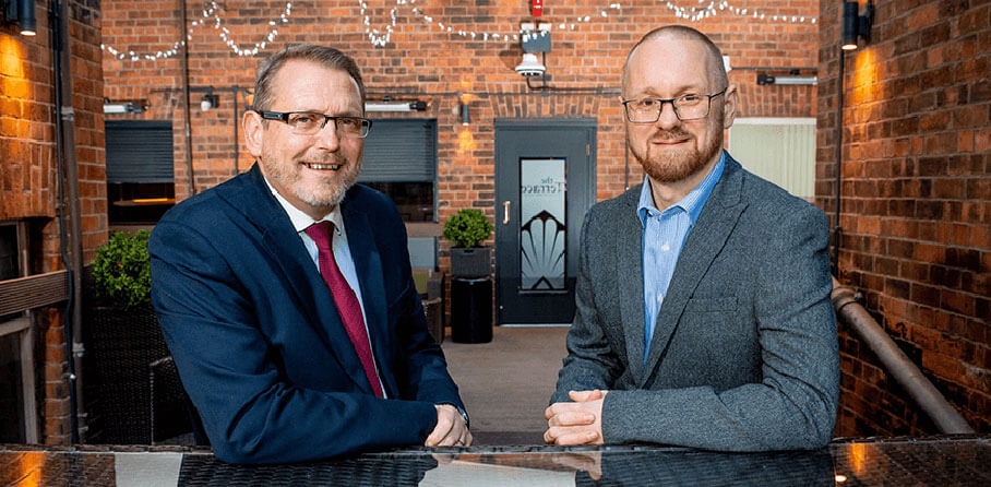 Nubulon news image - Nebulon news image - Pictured (L-R) are Derek Andrews, Head of International Investment, Invest Northern Ireland with Jonathan McDowell, Belfast Site Lead, Nebulon