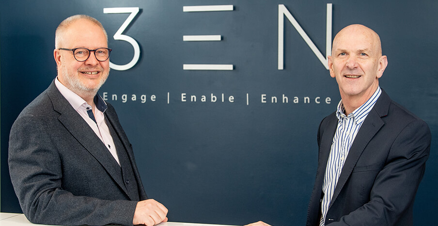 3EN - Pictured (L-R) are Dale Cree, CEO, 3EN Cloud Ltd with George McKinney, Director of Technology & Services, Invest NI.