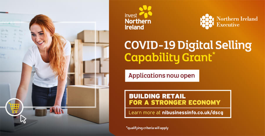 COVID-19 Digital Selling Capability Grant - Applications now open - banner