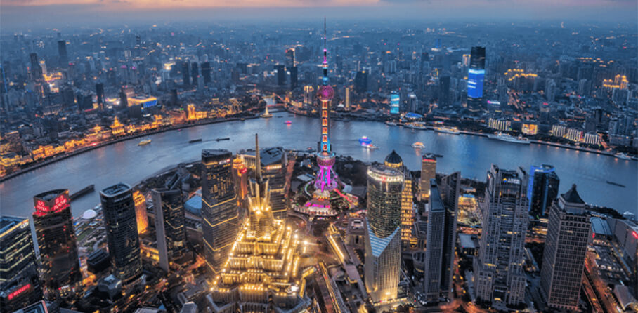 Feature China leads the way with green shoots of economic recovery - Shanghai cityscape