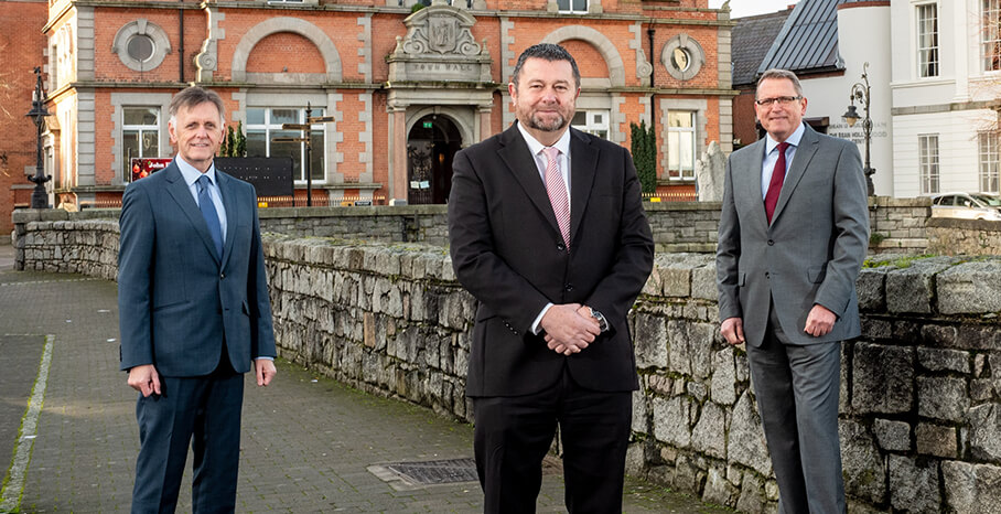 Pictured (L-R) are Mark Bleakney, Southern Regional Manager, Invest NI with Maurice Healy, CEO, Glantus and Derek Andrews, Head of International Investment, Invest NI