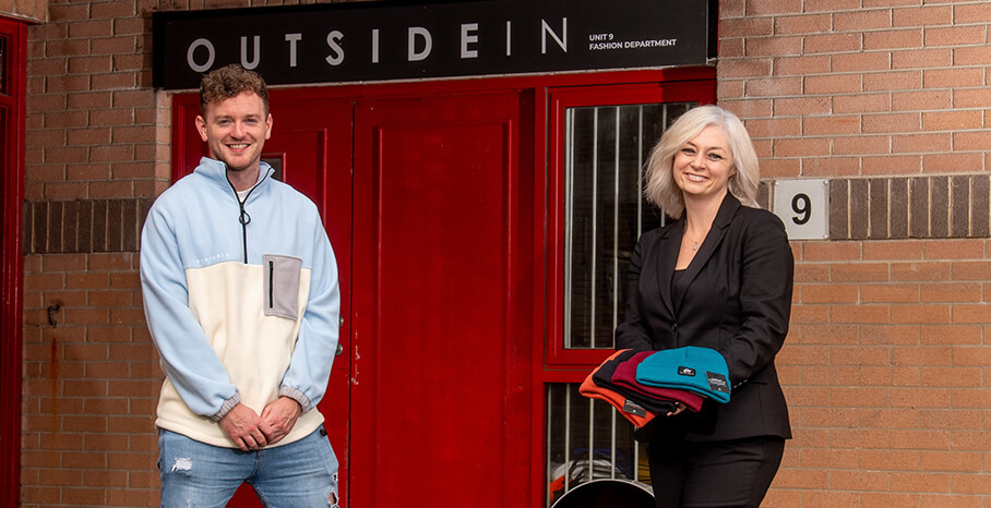 Pictured (L-R) are David Johnston, founder of OutsideIn with Susan O'Kane, Eastern Regional Manager, Invest NI.