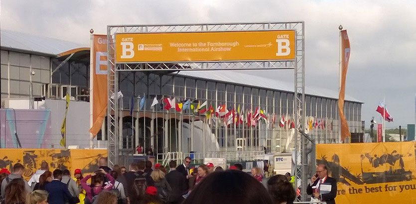 Farnborough International Air Show 2016 entrance