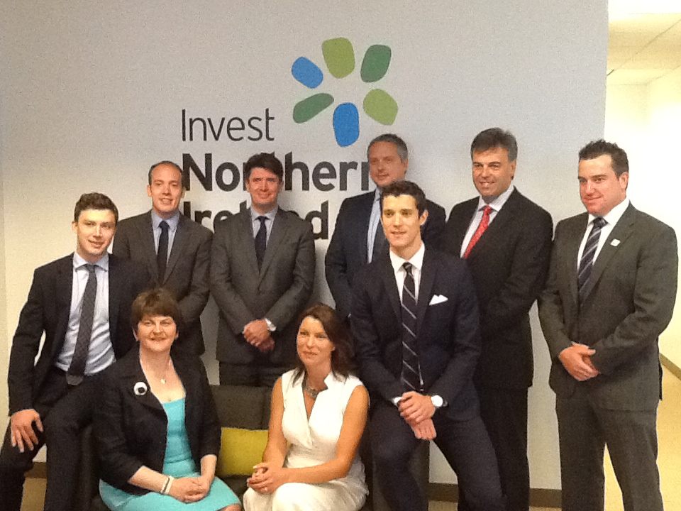 Minister Foster with the Invest NI San Francisco office team.