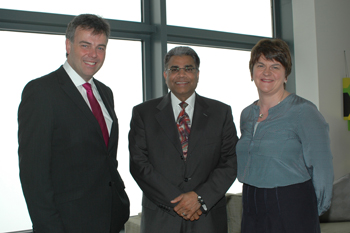 Alastair Hamilton, Suren Gupta, Allstate and Minister Foster at the British Consul General's Residence.