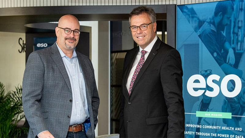 ESO - Pictured (L-R) are Chris Dillie, President and CEO, ESO with Alastair Hamilton, CEO, Invest Northern Ireland