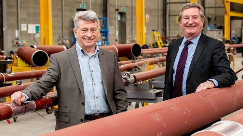 Gallacher and McKinney news image - Pictured (L-R) are Seamus Mellon, Managing Director, Gallagher and McKinney with Bill Montgomery, Director of Advanced Manufacturing and Engineering, Invest NI.