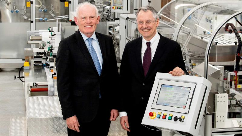 Pictured (L-R) are Gabriel Bradley, Managing Director, Naturelle with Kevin Holland, CEO, Invest NI.