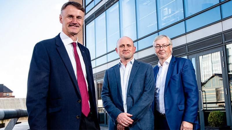 New Funds news image - Pictured (L-R) are William McCulla, Director of Corporate Finance, Invest NI with Jamie Andrews, Partner, Techstart Ventures and Colin Walsh, Partner, Crescent Capital.