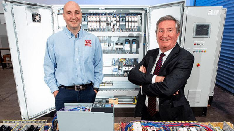AW Control Systems - Pictured (L-R) are Andrew Willis, Managing Director, AW Control Systems Ltd with Bill Montgomery, Director of Advanced Manufacturing and Engineering, Invest NI