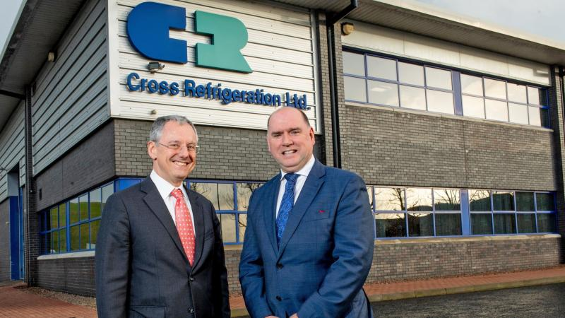 Cross Refrigeration - Pictured (L-R) is Kevin Holland, CEO, Invest NI with Andrew Nesbitt, Managing Director, Cross Refrigeration.