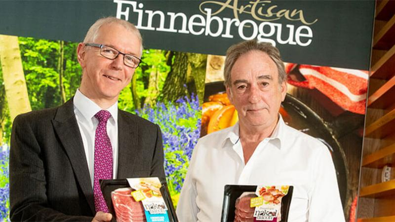 Finnebrogue - Pictured (L-R) are Brian Dolaghan, Executive Director of Business & Sector Development, Invest NI with Denis Lynn, Chairman of Finnebrogue Artisan
