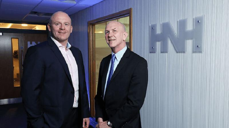HNH - Pictured (L-R) are Wayne Horwood, Director, HNH with George McKinney, Director of Technology & Services, Invest NI