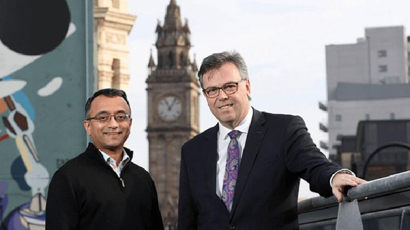 Signifyd - Pictured (L-R) is Raj Ramanand, CEO, Signifyd with Alastair Hamilton, CEO, Invest NI