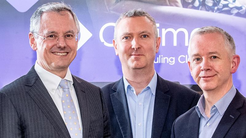 Pictured (L-R) are Kevin Holland, CEO, Invest NI with and Paul McMullan, CTO & Co-Founder and Dr Barry McCollum, CEO and co-founder, EventMAP.