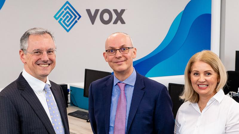 Vox - Pictured (L-R) are Kevin Holland, CEO, Invest NI with Brendan Gorman, Chief Financial Officer, Vox Financial Partners and Danielle Gorman, Director of Operations, Vox Financial Partners