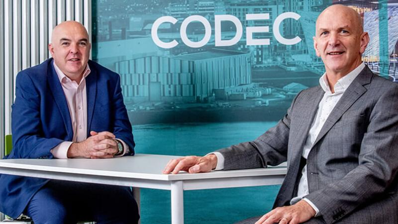 Codec - Pictured (L-R) is John Molloy, Northern Ireland Commercial Lead, Codec with George McKinney, Director of Technology & Services, Invest NI