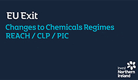 EU Exit | Changes to Chemical Regimes REACH / CLP / PIC
